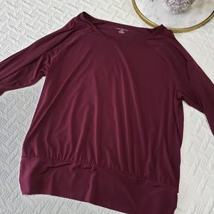 Lane Bryant Burgundy Top